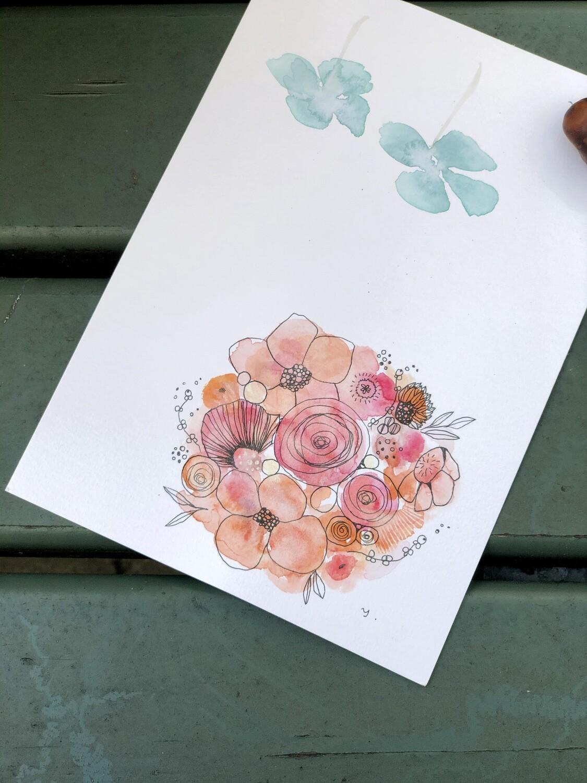 Design cards 5 pieces/ Dear Sun