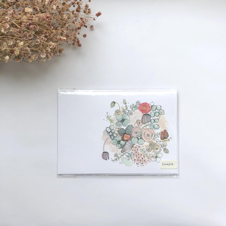 Design cards 5 pieces/ Autumnal colourful bouquet