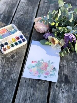 Design cards 5 pieces/ A winter scented bouquet