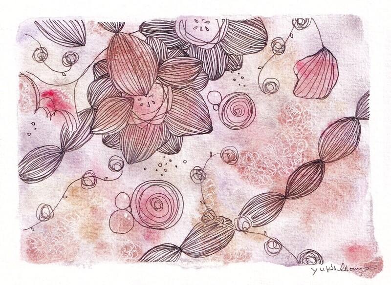 Design cards 4 pieces/ Lilac dreams