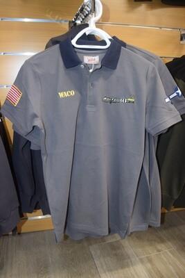 Polo Gris col Bleu Marine WACO