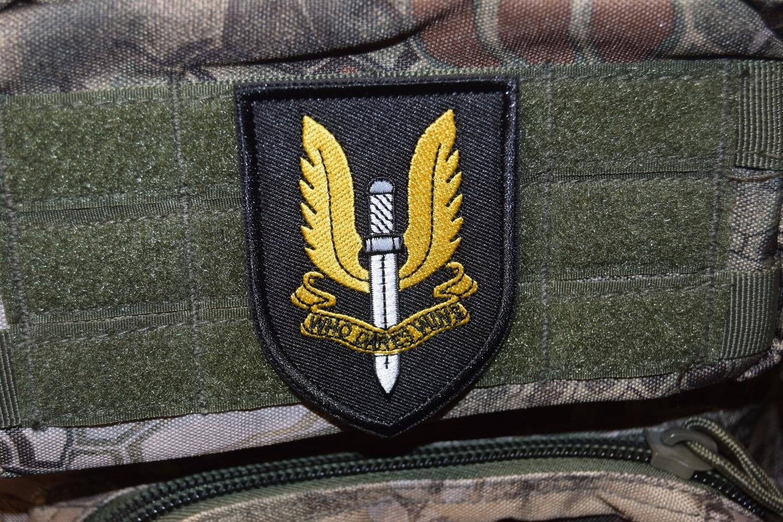 Patch Commando SAS Anglais avec scratch au dos