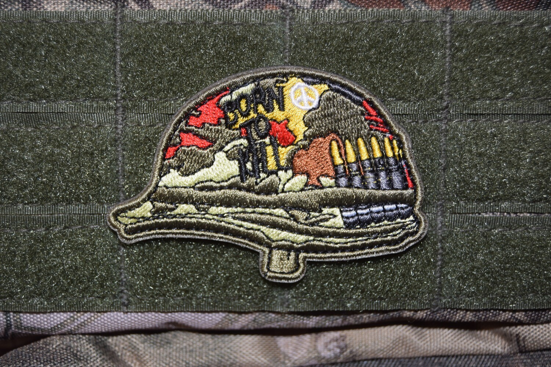 Patch US Casque Full Metal Jacket avec scratch au dos