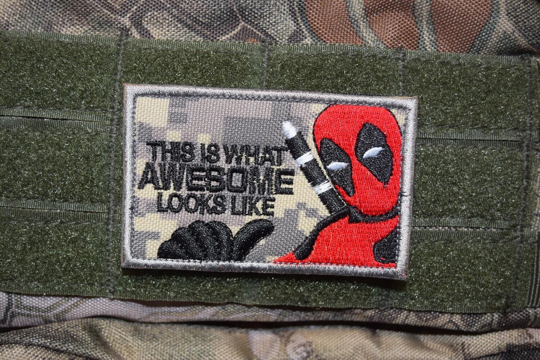 Patch US Deadpool avec scratch au dos