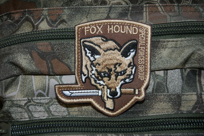 Patch FOX HOUND Foxhound Special Forces Group avec scratch au dos