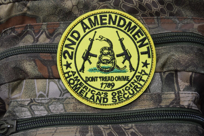 Patch US 2ND AMENDEMENT 1789 avec scratch au dos