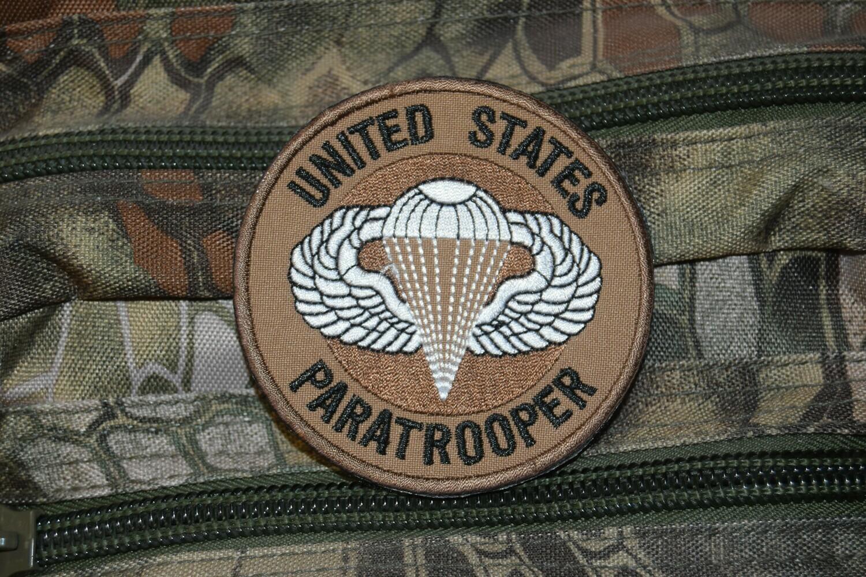 Patch US UNITED STATES PARATROOPER avec scratch au dos