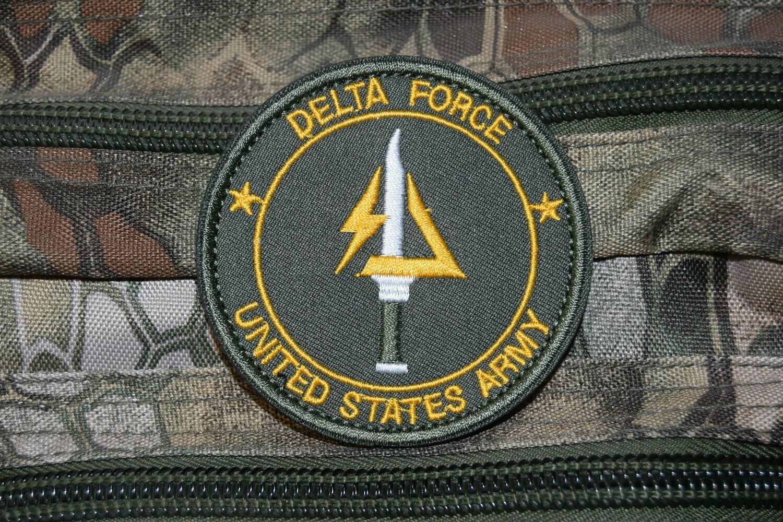 Patch US DELTA FORCE UNITED STATES ARMY avec scratch au dos