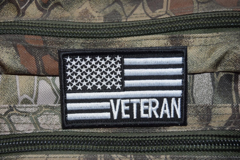 Patch Drapeau ARMY USA Vétéran avec scratch au dos