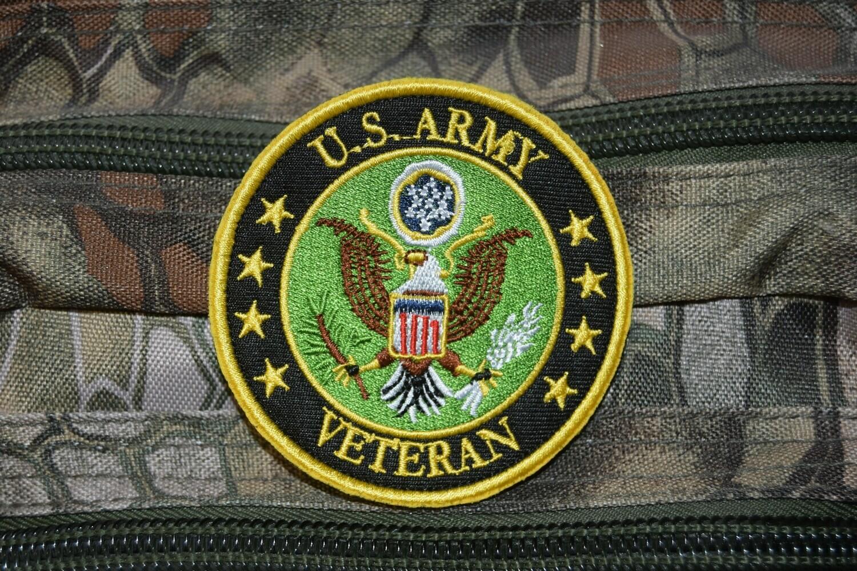 Patch US ARMY Vétéran avec scratch au dos