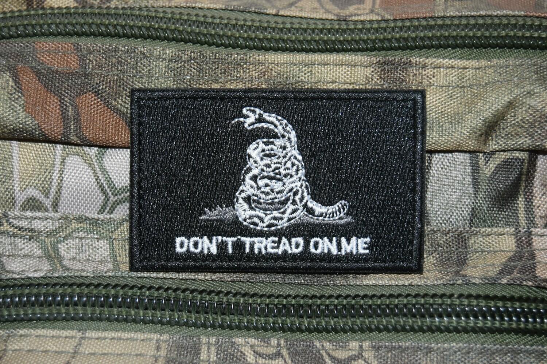 Patch Gadsden flag Don't tread on me avec scratch au dos