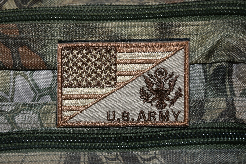 Patch flag US ARMY drapeau Américain USA avec scratch au dos