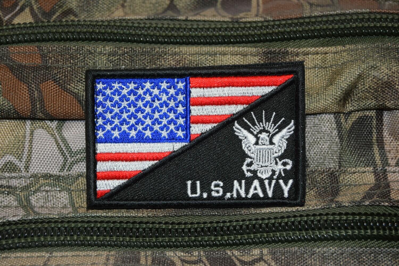 Patch flag US NAVY drapeau Américain USA avec scratch au dos