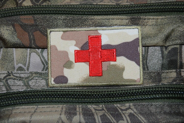 Patch US MEDIC Croix Rouge MED avec scratch au dos