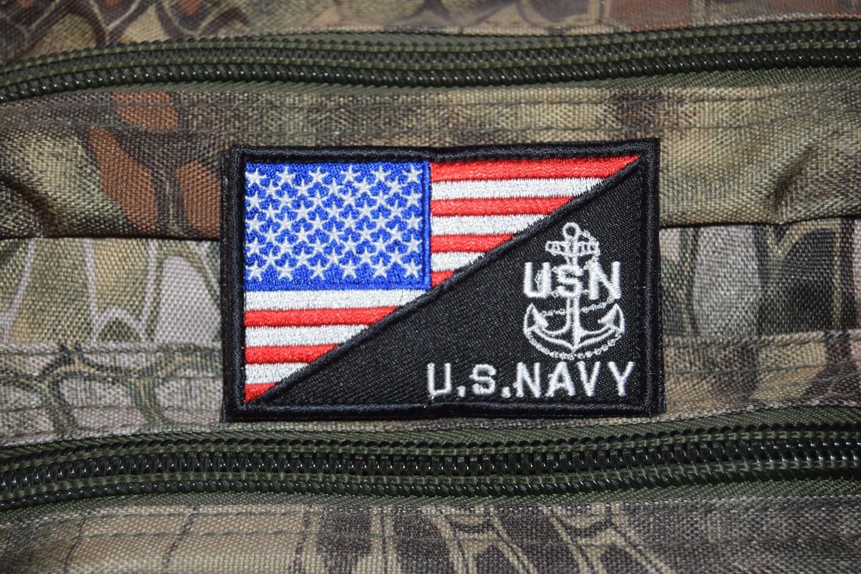 Patch US NAVY USN avec scratch au dos
