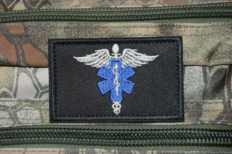 Patch US PARAMEDIC USA MEDIC avec scratch au dos