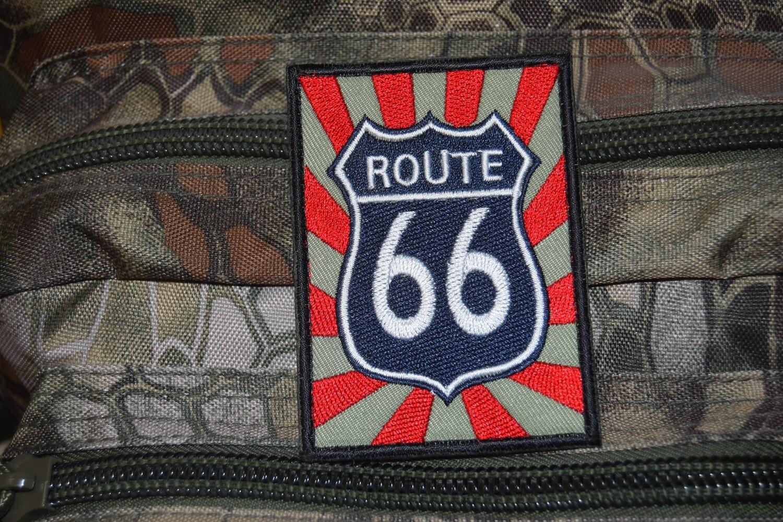 Patch Route 66 Biker