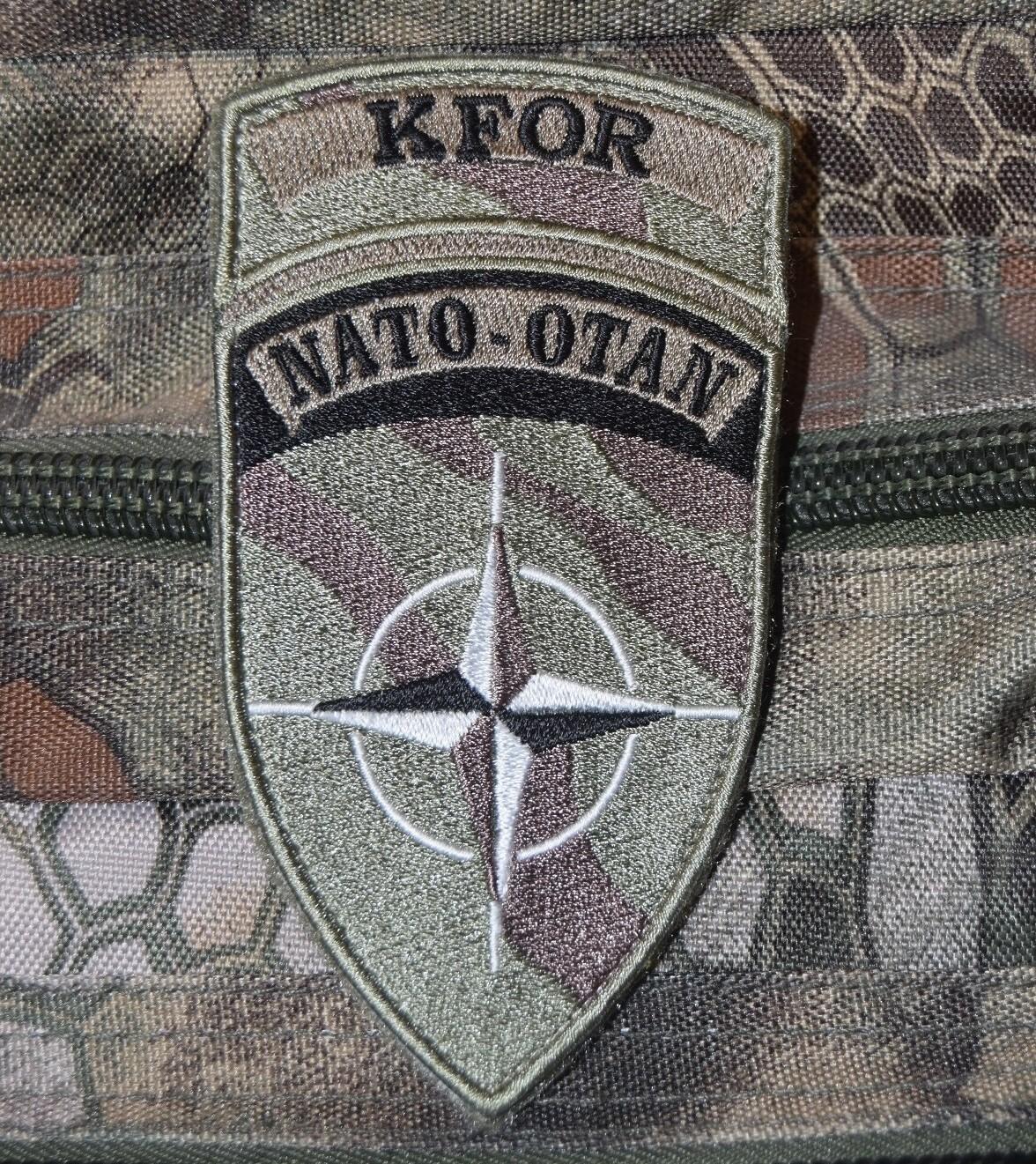 Patch brodé KFOR NATO OTAN