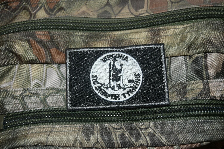 Patch flag US VIRGINIA drapeau Américain USA avec scratch au dos