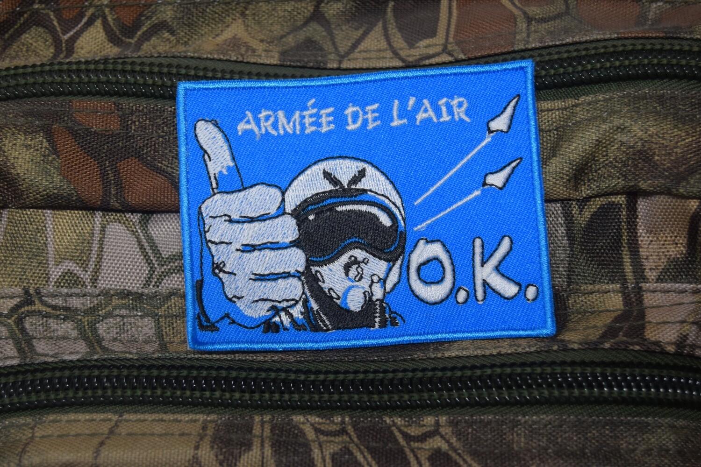 Patch Armée de l'Air Française pilote de chasse OK