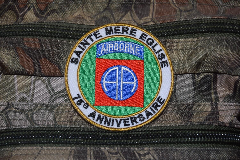 Patch 75e Anniversaire D-Day Sainte Mère Église 82nd Airborne Division