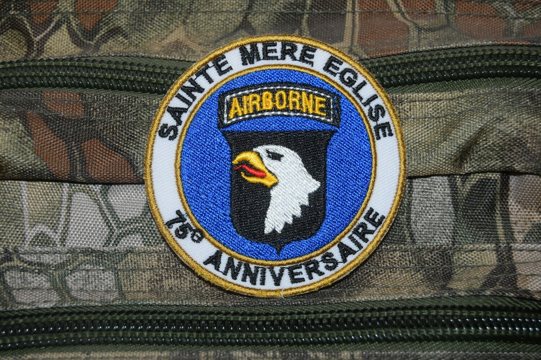 Patch 75e Anniversaire D-Day Sainte Mère Église 101st Airborne Division
