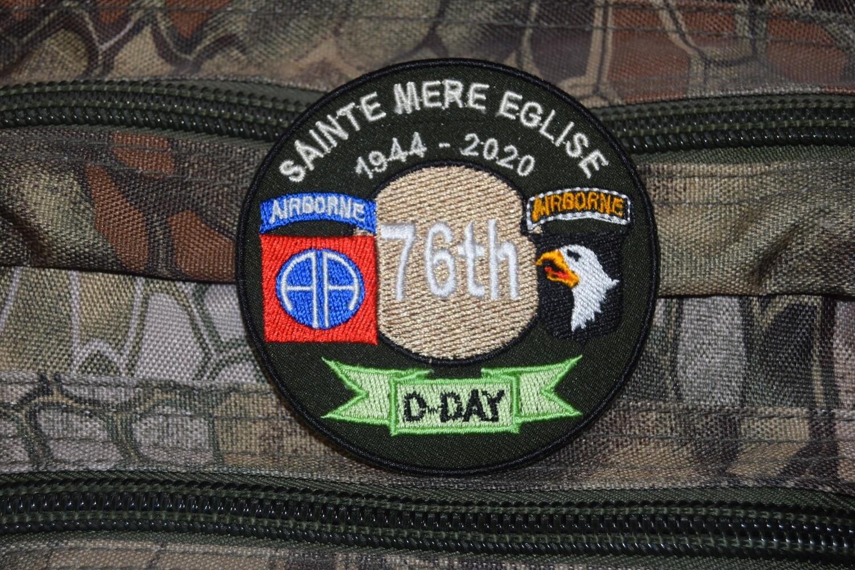 Patch 76e Anniversaire D-Day 1944 Sainte Mère Église