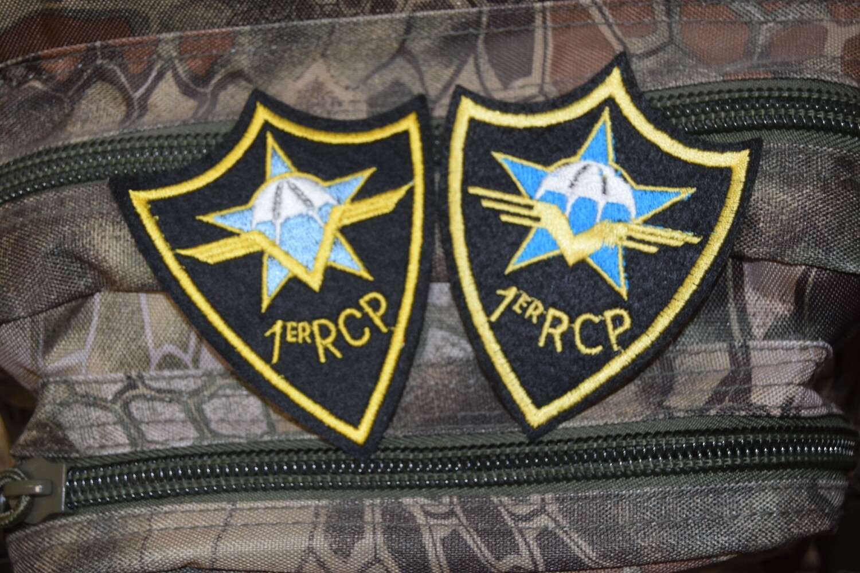 """Patch 1er RCP Régiment Chasseur Parachutiste """"lot de 2 patchs"""""""