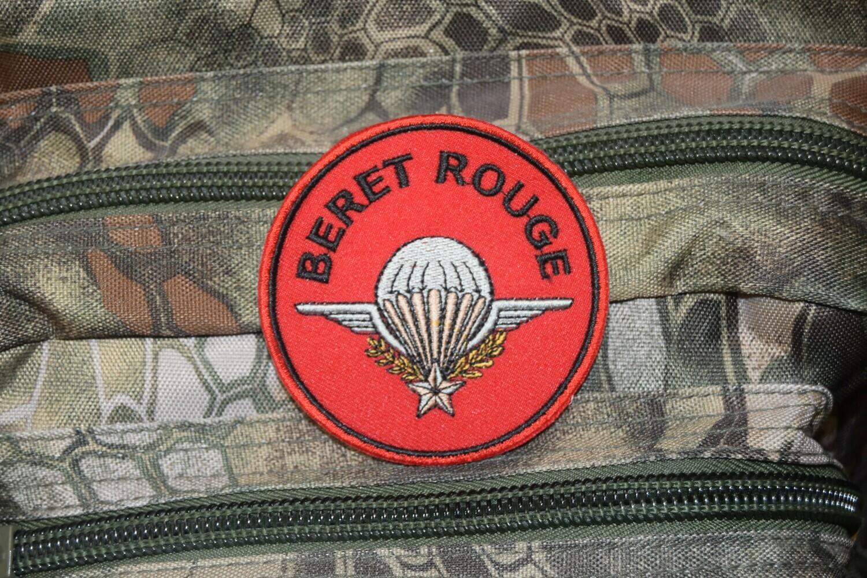 Patch Brevet Parachutiste Béret Rouge PARA