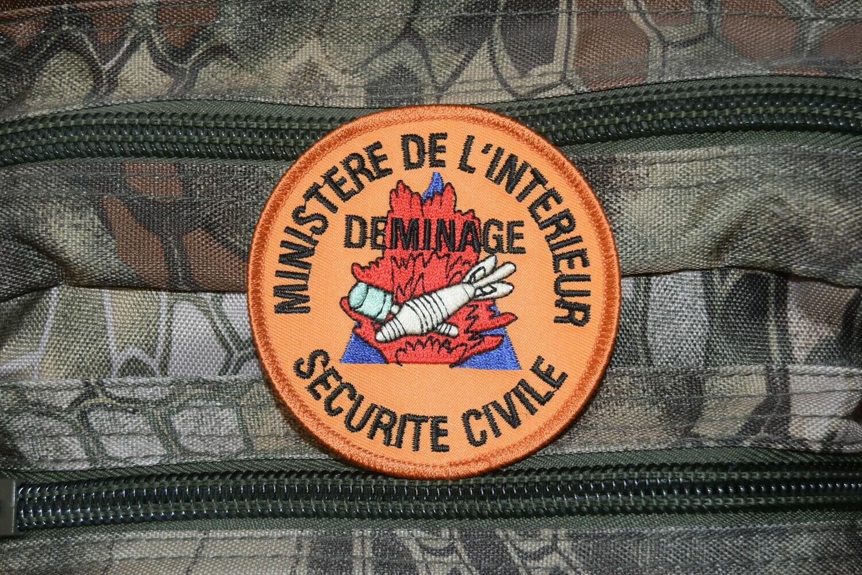 Patch militaire Déminage Sécurité Civile Ministère de l'Intérieur