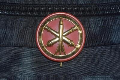 Insigne de béret militaire Régiment d'Artillerie