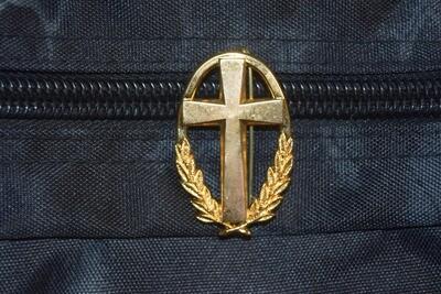 Insigne de béret militaire aumônier Catholique