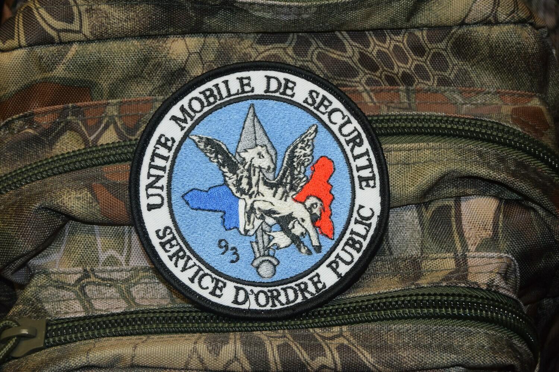 Patch Unité Mobile de Sécurité Service d'Ordre Public 93