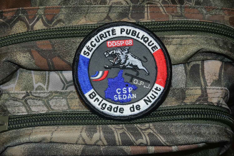 Patch Police Nationale Brigade de Nuit OPJ DDSP SEDAN