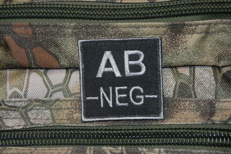 Groupe sanguin militaire Airsoft AB NÉGATIF AB-