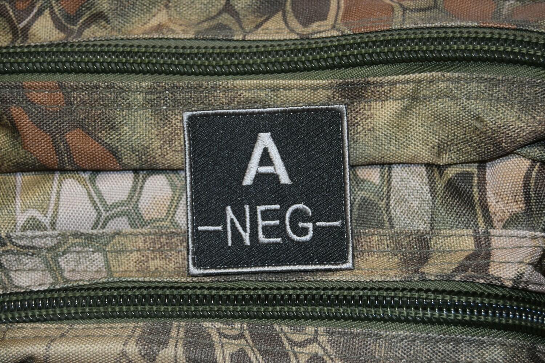 Groupe sanguin militaire Airsoft A NÉGATIF A-