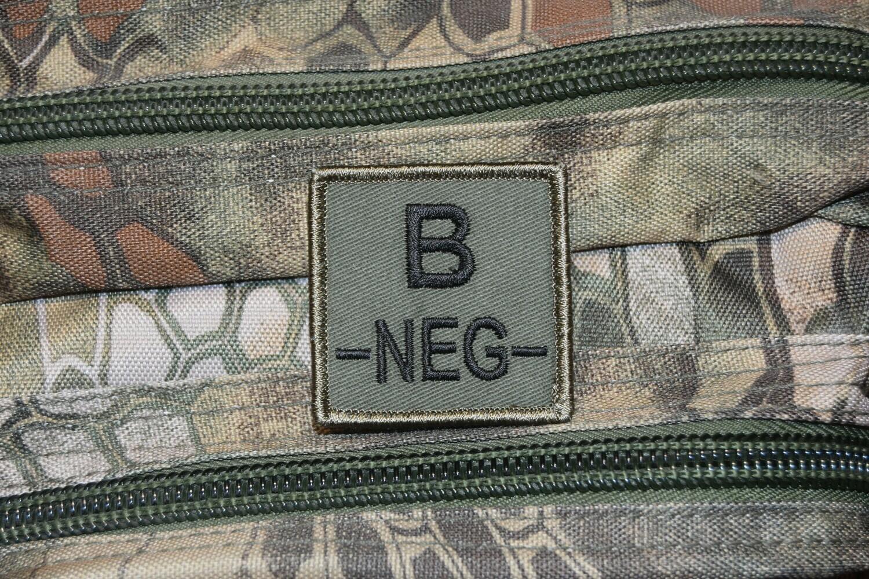 Groupe sanguin militaire Airsoft B NÉGATIF B-