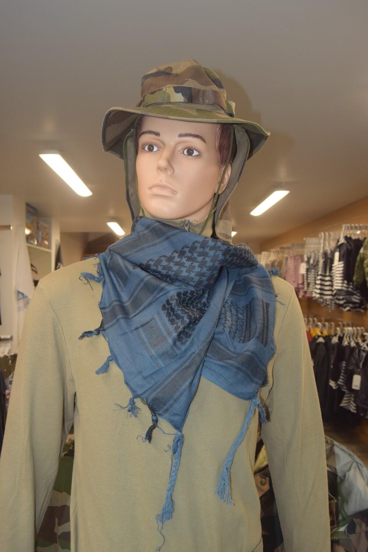 Shemagh foulard écharpe keffieh Bleu