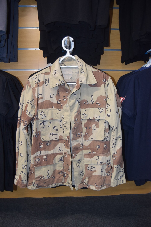 Veste de treillis militaire US camouflage Petits Cailloux Taille S