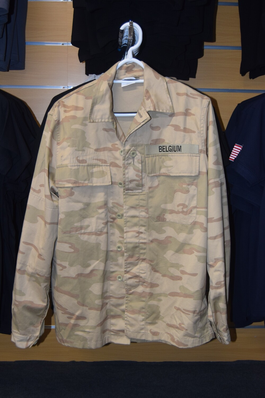 Veste de treillis militaire Belge camouflage Désert Taille M