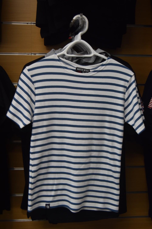 """Tee-Shirt marinière """"GARLAN BLANC JEAN"""" coton épais"""