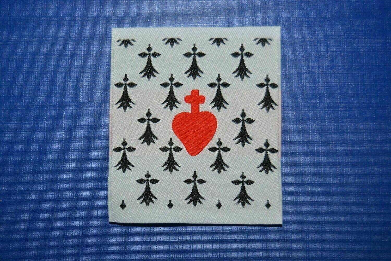 Insigne Sacré Cœur de Jésus Hermine Bretonne