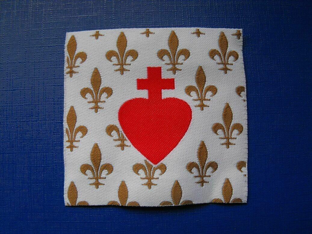 Insigne Royaliste Sacré Cœur de Jésus Fleurs de Lys