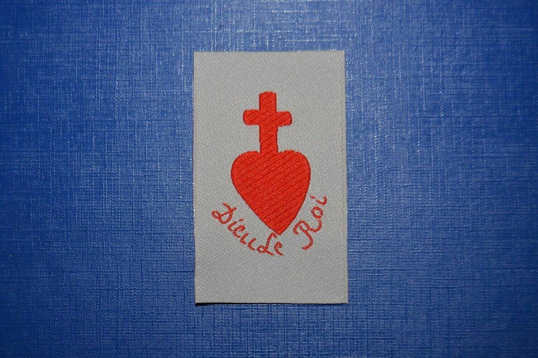 Insigne Dieu le Roi Chouan Vendéen Sacré Cœur de Jésus