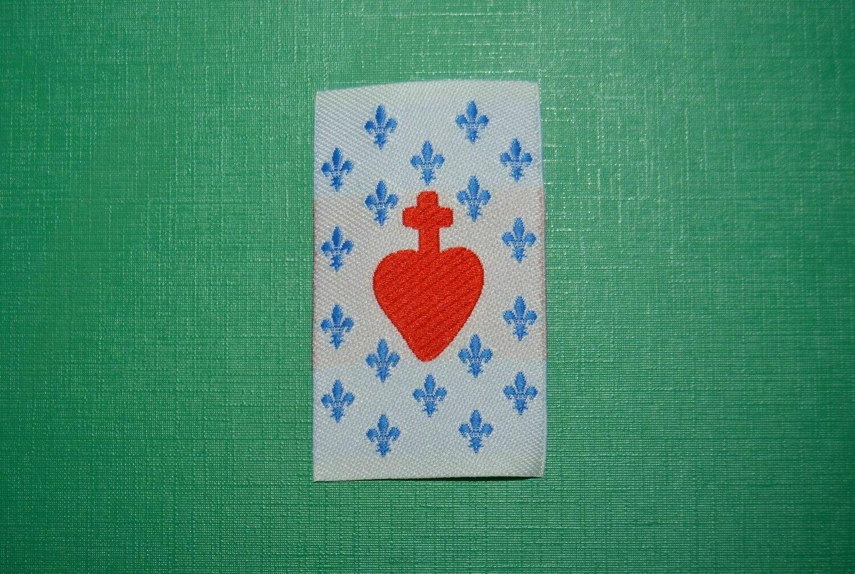 Insigne Sacré Cœur de Jésus Fleur de Lys Cœur Vendéen