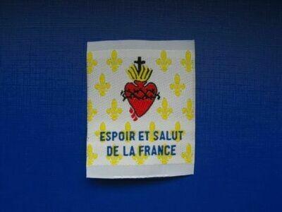 Insigne Sacré Cœur de Jésus Espoir et Salut de la France ESF