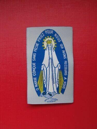Insigne Scapulaire O Marie Conçue sans péché Priez pour nous