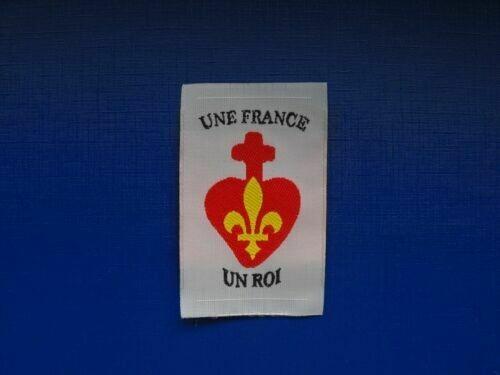 Insigne Une France un Roi scout royaliste
