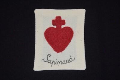 Insigne Scapulaire Sacré Cœur Vendéen Sapinaud