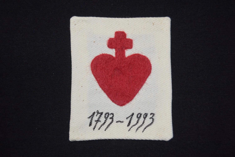 Insigne Scapulaire Vendéen Sacré Cœur 1793-1993